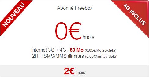 4G free mobile désormais inclue dans le forfait gratuit
