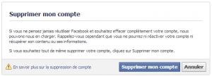 1ere etape de suppression de compte facebook