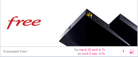 Vente privee free ADSL (freebox revolution)