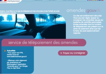Payer ses amendes en ligne sur www.amendes.gouv.fr