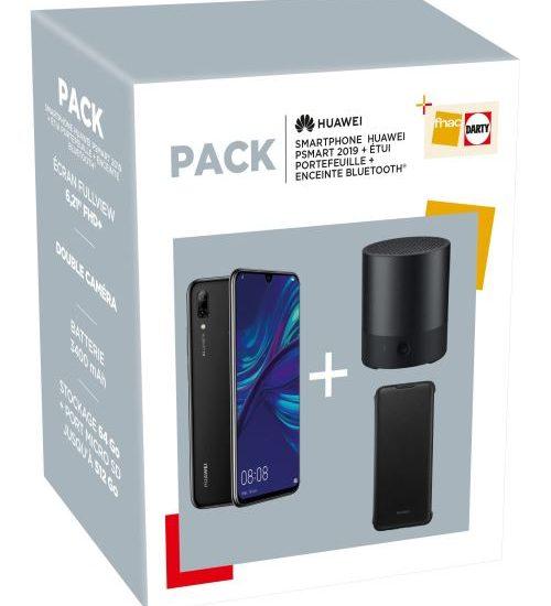 Pack Smartphone Huawei P Smart 2019 + Enceinte bluetooth + Etui portefeuille : 130 euros de remise sur fnac.com