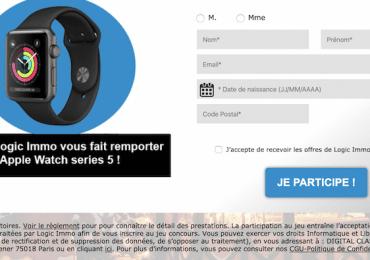 Jeu Logic-Immo : Apple Watch, Iphone 11 et Console PS4 à gagner!